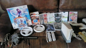 Wii Console, Wii Fit, controllers & games