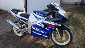 2002 Suzuki GSXR 750 motorcycle bike