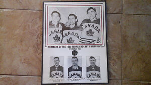 Framed, Autographed, 1955 World Champions Penticton Vees