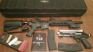 Tiberius T15 (4 Magazines, Sight, etc), PTXtreme, Mask, Holsters