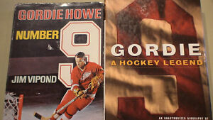Gordie Howe   2 books mint condition