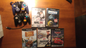 Nintendo game cube games plus 2 controllers