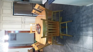 Solid Oak Kitchen Set Reduced Price London Ontario image 1