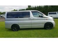 Nissan Elgrand 3.5 automatic 8 seater silver /sunroofs/curtains only 52k miles