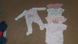 0-3 months vest and babygrow bundle