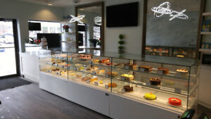 Bakery cases, refrigerated cases, dry cases, butcher displays