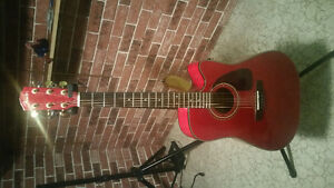 Fender acoustic with amp and accessories
