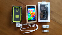 MINT Galaxy S5 + Otterbox case, car charger & 16gb SD card