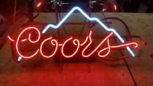 Coors neon beer sign