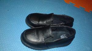 black school shoes size 9 & elmo rainboots size 10
