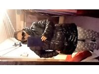 Coat NEW size 24 sixe XXL sixe 2XL quilted padded jacket black outerwear travel water resistant