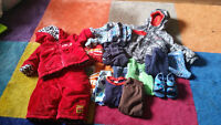 Boys 12 month lot, snowsuit and Columbia winter coat