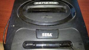 Sega Genesis 2, 2 controllers, 3 games. No A/v cable