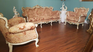 SET DE SALON 4 MORCEAUX ANTIQUE BAROQUE VICTORIEN LOUIS 15