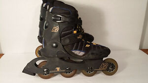 K2 women size 7.5 roller blades with pads