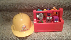 Handy manny tools and hard hat