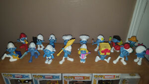 McDonalds Smurfs Figures Loose Lot of 16