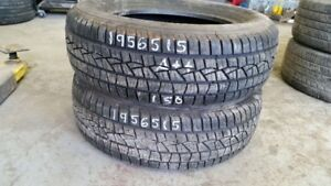 Pair of 2 Continental PureContact 195/65R15 tires (90% tread lif