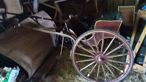 Horse-drawn Cart, Mennonite Made, Excellent Shape, Sulky, Buggy Peterborough Peterborough Area image 1