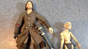 Aragorn and Gollum from Lord of the Rings