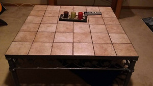 Coffee table - removable/changeable tiles