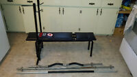 weight bench and weights