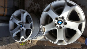 """4 used 19"""" BMW X5 01-06 five spoke staggered alloy rims"""