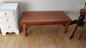 Large Wooden Pine Coffee Table