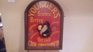 Wood scotch sign