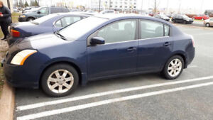 2008 Nissan Sentra, blue 4 door, automatic