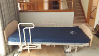 Fully electric homecare bed.