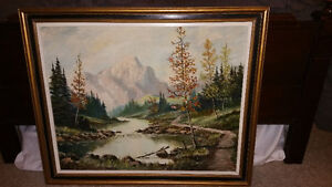 Jerry Doell Original Oil Painting of the Rocky Mountains