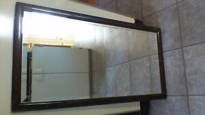Vintage Heavy Beveled Mirror with frame / Miroir Antique