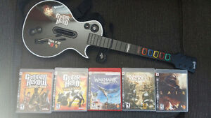 Playstation 3 Games and Guitar