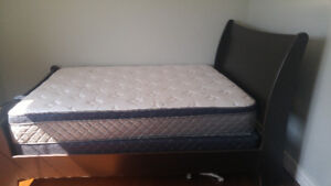 double bed, mattress and box spring