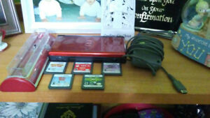 Nintendo DS, 5 games, charge/DS holder, charger