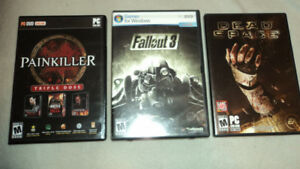 Fallout 3, Painkiller, Dead Space