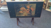 Old Armwood Sales Co. Wooden TV Table