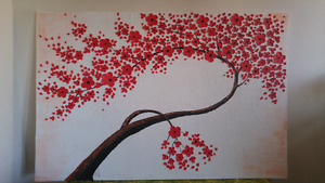 Large Beautiful 3D Flowers Cherry Blossom Canvas Painting