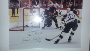 Two Gretzky Autographed NHL Record Setting goals/points x