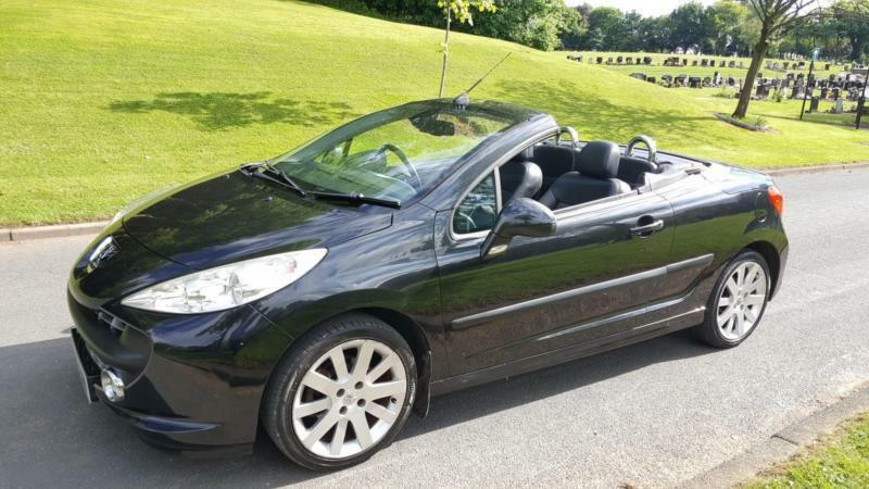 peugeot 207 cc 1 6 16v 120 coupe gt convertible full black leather in blackley manchester. Black Bedroom Furniture Sets. Home Design Ideas