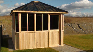Eastern white cedar gazebos - Amish built - Custom available