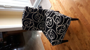 Black velour chair