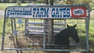 20% off Hot dipped galvanized farm gates