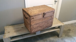 New Handcrafted Recycled Wood Chest
