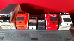 5 BOSS PEDALS & ERNIE BALL VOLUME