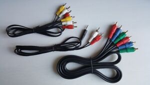 Component Video Cable+A/V Cable+3.5mm Stereo-to-RCA Audio Cable