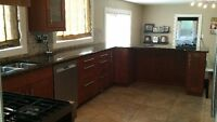 COMPLETE  Ikea Akurum kitchen, GRANITE counters, sink and faucet