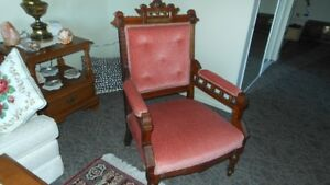 rose color antique chair