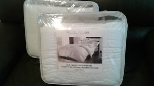 SILK FILLED COTTON  2 DUVETS and Badspread, New, 50%Off
